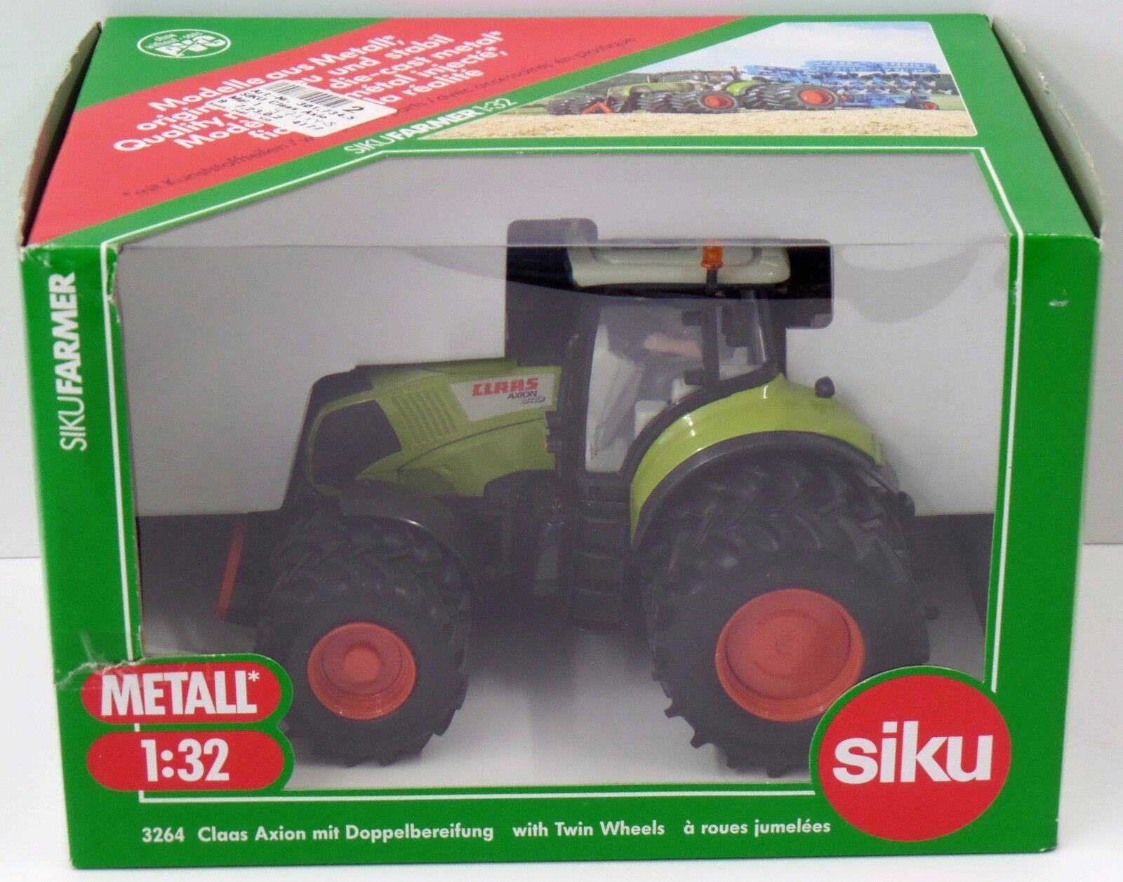 SIKU Farmer 1 32 - 3264 Claas Axion à roues jumelées-Neuf dans sa boîte Neuf New