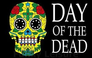 5 x 3 day of the dead flag halloween mexico mexican festival party