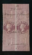 GB REVENUES 1872 LIFE POLICY £1 PAIR 1880 MARQUIS of HUNTLY MANUSCRIPT 71644