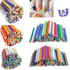 50pcs/set 3D Nail Art Fimo Canes Stick Rods Polymer Clay Stickers Decoration DIY
