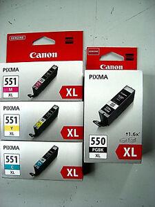 CANON-CLI-551XL-C-M-Y-PGI-550XL-schwarz-PIXMA-IP7250-MX925-MG6350-Original-4