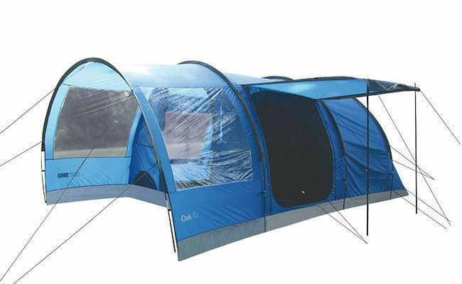 Highlander Oak 6 Person Large Family Camping Holiday Tent Imperial bluee