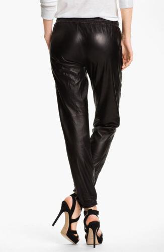 d'agneau 004 Pantalon en noir dames en pour femmes pour cuir cuir élégant véritable Pantalon WZ68RqZwfa
