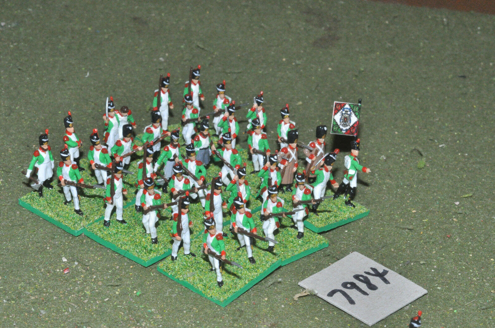 20mm napoleonic   italian - infantry plastic 36 figs painted - inf (7984)