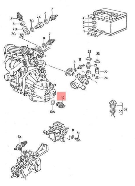 Reversing Switch VW Caravelle MK4 2.8 VR6 Genuine Febi Reverse Light