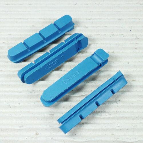 Bremsbelag Set XLC BS-X01Catrige Bremsgummi für Carbon Felge blau Shimano Type