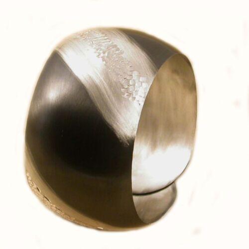 Bracciale donna semi rigido ARGENTO 925//1000  placcato rutenio nero largo  cm.4