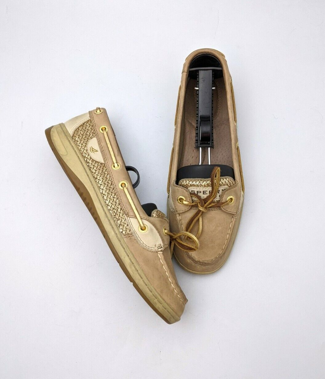 Sperry Top-Sider Angelfish Sparkle Leather Boat Shoe Women's 7.5M