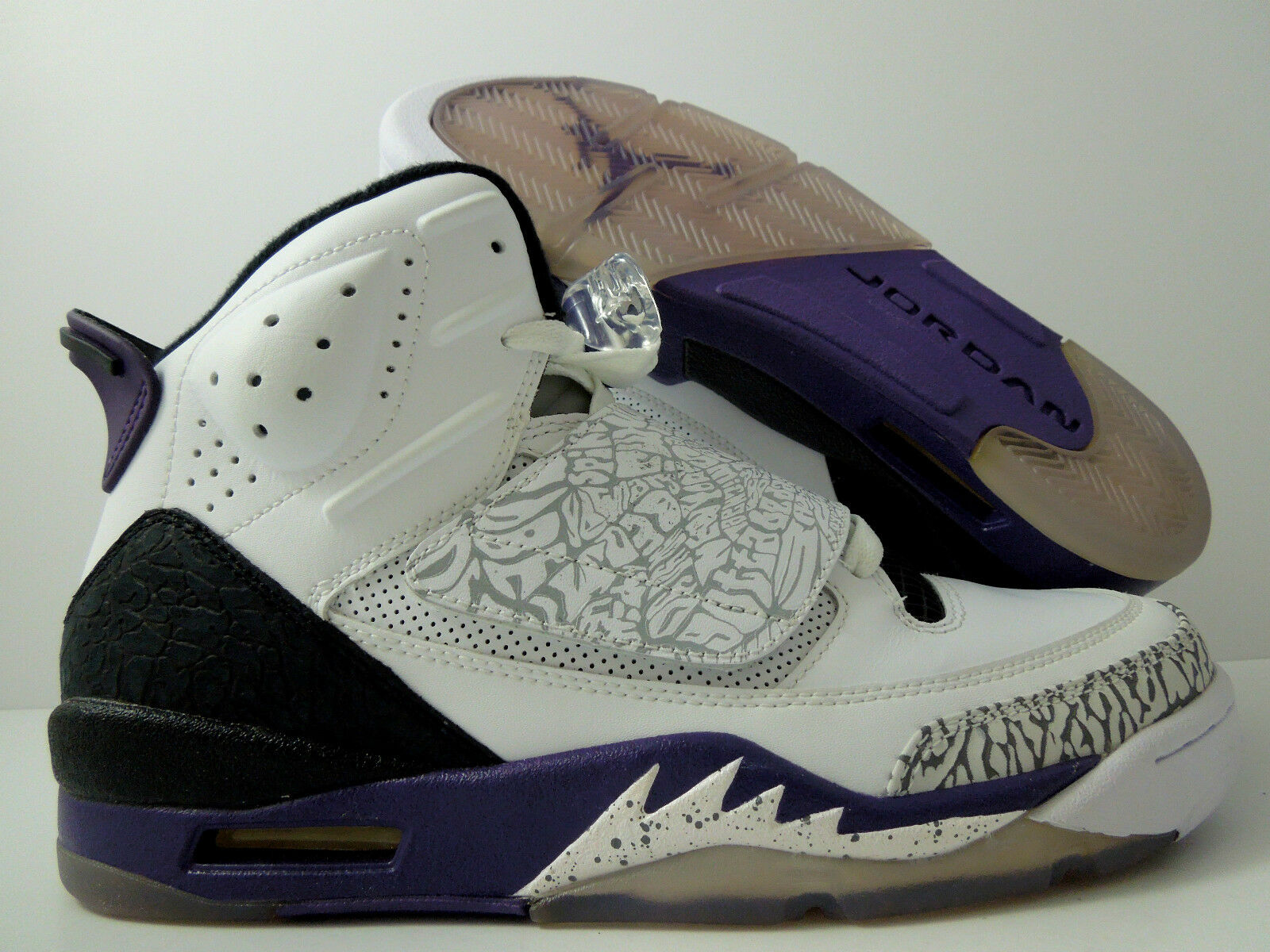 NIKE AIR JORDAN SON OF MARS WHITE-CLUB PURPLE-GREY-BLACK Price reduction The latest discount shoes for men and women