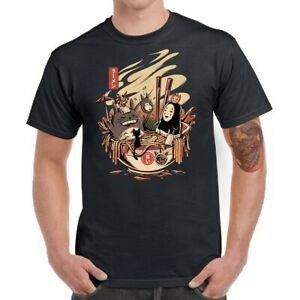 Anime-Ramen-Pool-Party-Men-T-Shirt-Funny-Graphic-Tees-Cotton-Short-Sleeve-Tops
