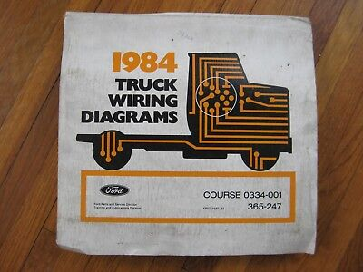 1984 Ford Bronco 2 Ii Wiring Diagrams Ebay