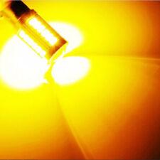 2pcs Amber P21W 1156 BA15S Cree LED Bulb 5730 SMD Super Bright Car Light bulb