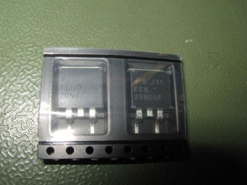 D2PAK//TO263-2L MosFET N-Ch Fairchild 2x FCB20N60FTM SMD 600V 20A -190m