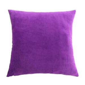 45cm-Solid-Colour-Velvet-Cushion-Cover-Home-Decor-Throw-Pillow-Case-Purple