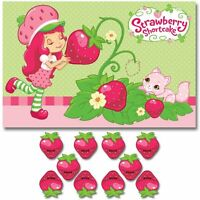 Strawberry Shortcake Dolls Party Game Poster Birthday Supplies Decorations