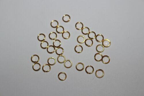 simple de 5mm de diamètre nombre au choix Anneaux de jonction dorés ouvert