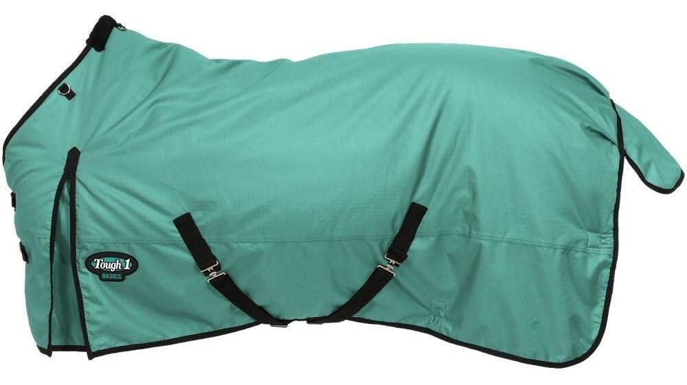 Horse Winter Turnout Blanket  1200D200 Grams Polyfill  Turquoise  69 to 84