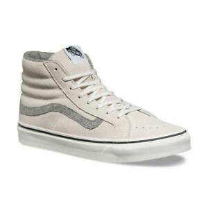 0237d77e99eb01 VANS Sk8 Hi Slim (Vintage Suede) True White Skate Shoes MEN S 7.5 ...