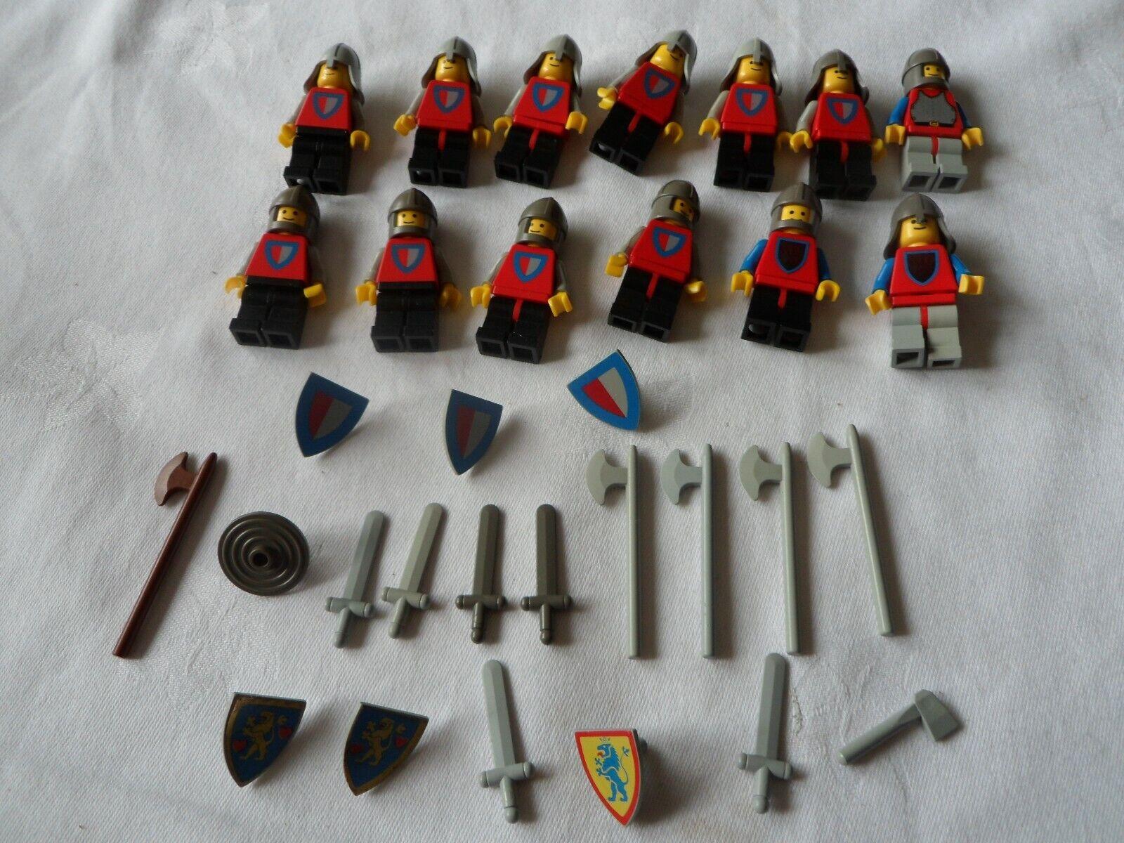 Genuine lego vintage années 1970 Chevaliers procession lot 13 x Mini Figurines-très bon état