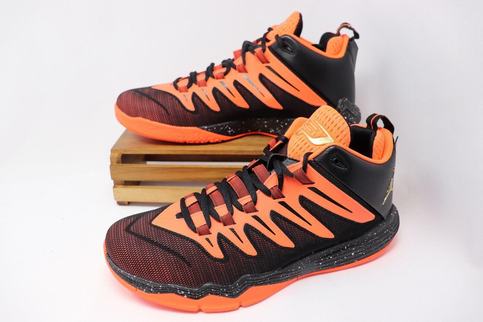 Nike Air Jordan CP3 IX Chris Paul Hyper orange gold Black 810868-802 Men's NEW
