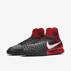 cbb9b2bc6cdd Nike MagistaX Proximo II DF IC Indoor Soccer Shoes Black Red 843957 ...