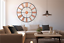 EXTRA-LARGE-ROMAN-NUMERALS-SKELETON-WALL-CLOCK-40-60CM-BIG-GIANT-OPEN-FACE-ROUND miniatura 73