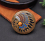 Antique-Brass-Southeast-Ethnic-Indian-Head-Turquoise-Leathercraft-Belt-Conchos miniature 4