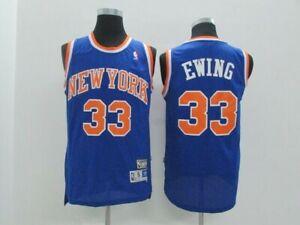 factory authentic 12a7e 9440f Details about Patrick Ewing New York Knicks #33 NBA Basketball Blue  Swingman Jersey - S - XXL