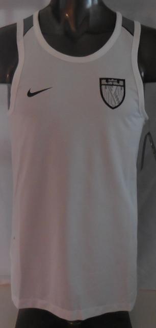 f1623067d7a64 Nike Men s Dri-FIT LeBron Basketball Top Color White Cool Grey Black Size