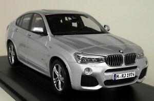 Paragon 1/18 Scale - modèle réduit de voiture miniature argentée glacier Bmw X4 F26