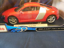 AUDI R8(RED,1:18 scale,DIE CAST,HARDTOP)BY MAISTO