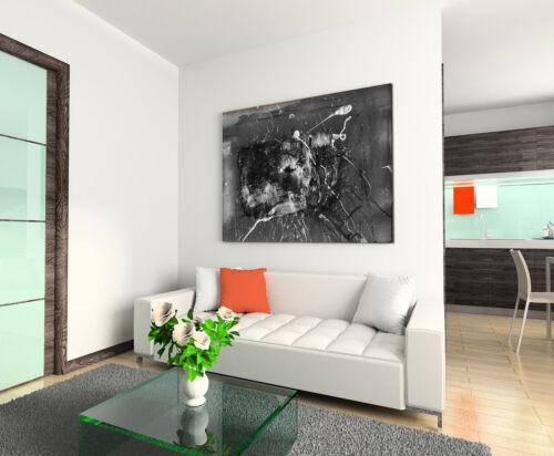 Leinwandbild abstrakt schwarz grau weiß Paul Sinus Abstrakt/_852/_120x80cm
