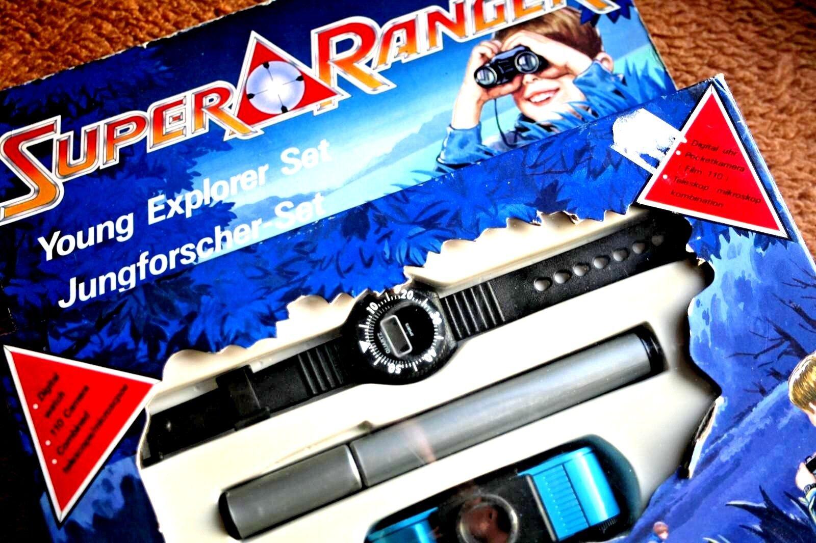 SUPER RANGER  YOUNG EXPLORER SET (BANDAI). WATCH, CAMERA, TELESCOPE  BRAND NEW