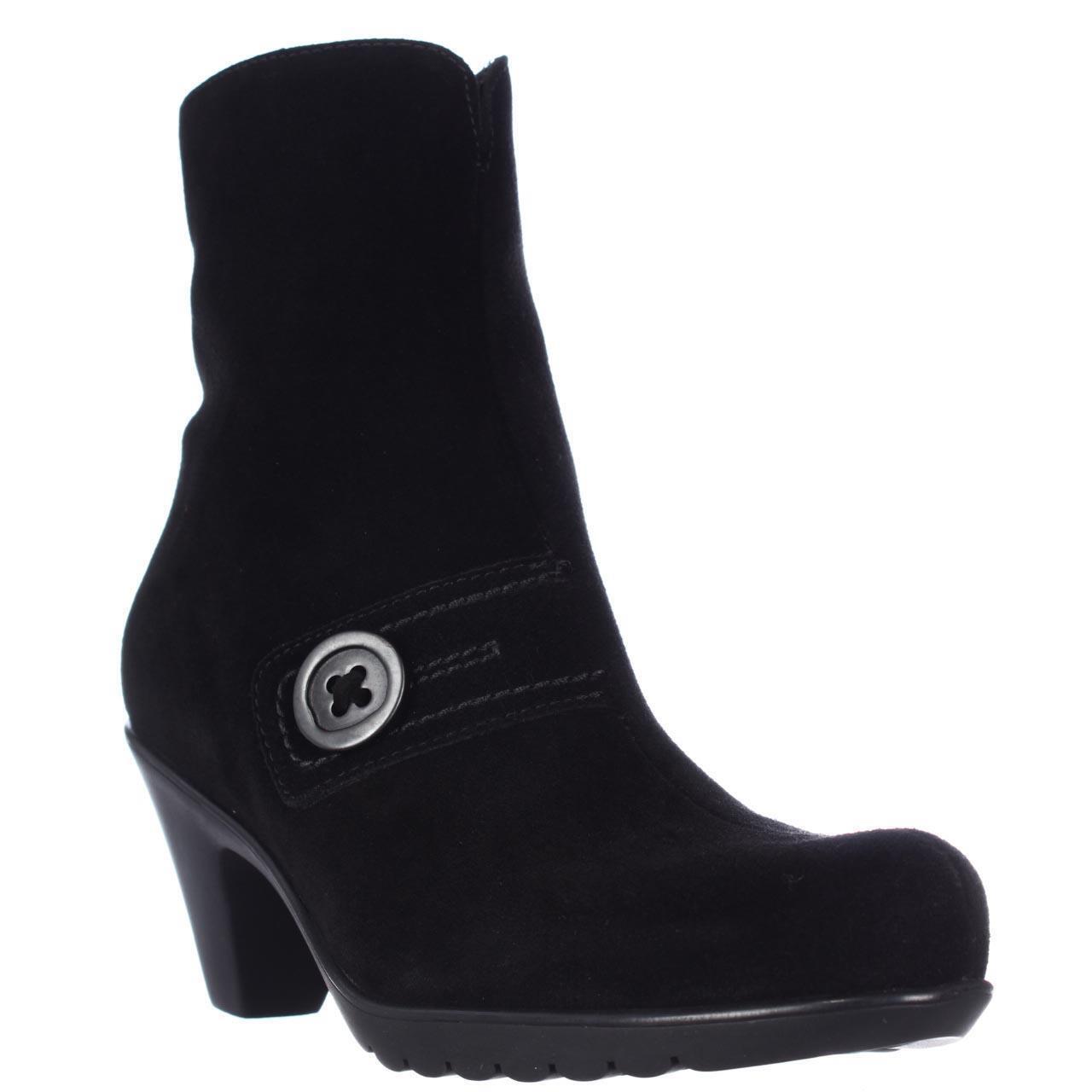 negozio a basso costo LA CANADIENNE donna Dorthea nero Suede WATERPROOF WATERPROOF WATERPROOF Ankle Zip stivali 6.5  prezzi eccellenti