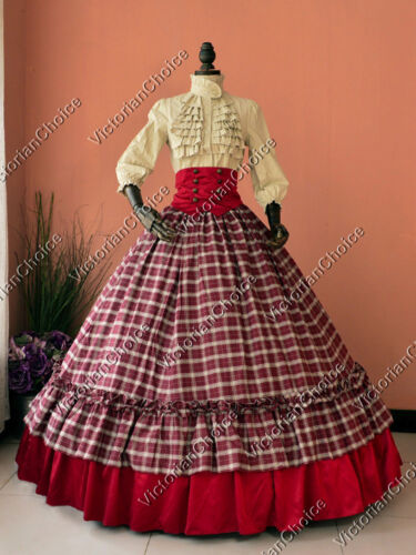 Victorian Costume Dresses & Skirts for Sale    Civil War Victorian 3PC Dress Gown Women Christmas Dickens Caroler Costume K001 $187.00 AT vintagedancer.com