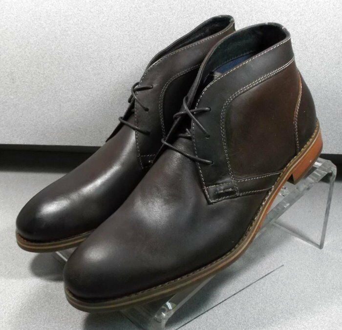 5910733 FTBT50 Men's Shoes Size 9 M Brown Leather Boots Johnston Murphy