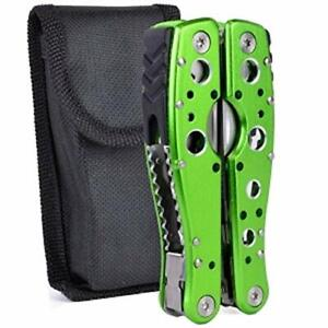 Folding Pliers with Case Green