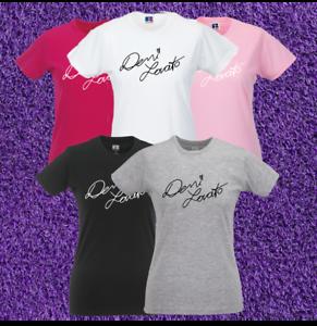 Demi Lovato Signature T-Shirt Womens Girls Tee Top Tour Pop Singer RESTOCKED