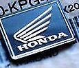 * Honda front Logo 3D Emblem Sticker Decal 20mm x 20mm square badge Motorcycle*