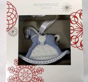Wedgwood-My-First-Christmas-2016-Rocking-Horse-Christmas-Ornament-NIB