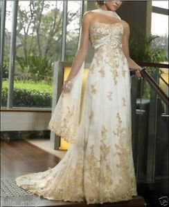 New champagne wedding dress in stock size 6-16 good price And quality A nice