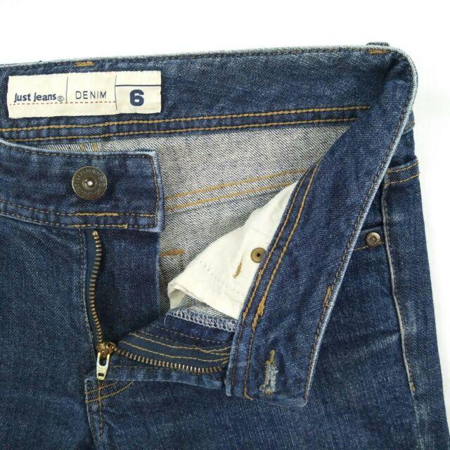 Just Jeans Blue 3 Quarter Crop Stretch Denim Jeans Women's Size 6 W28  #173662