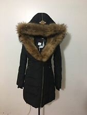 NWT Women's MACKAGE Trish-F5 Fur Trimmed Hood Down Coat, Medium, Black