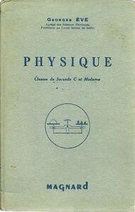 Details Sur Livre Physique Classes De Seconde Magnard 1950