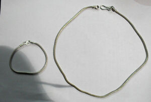 collana bagno argento indiano  tonda 6 mm lunga 48 cm silver snake necklace