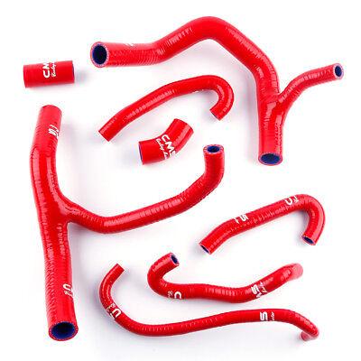 Fit 2004-2007 Honda CBR 1000 RR Fireblade Silicone Radiator Hose Y Pipe Kit Red