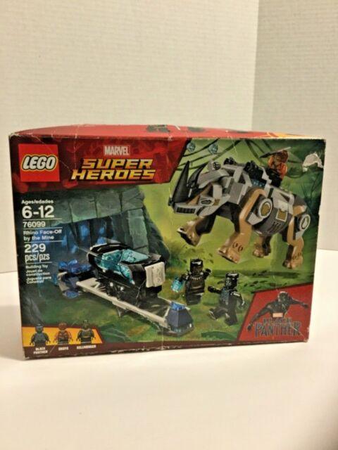 LEGO 76099 Marvel Super Heroes Black Panther Rhino Face-Off by the Mine 229pcs