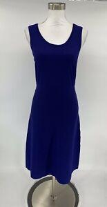 Anne-Klein-Women-s-Dress-Blue-Size-M-Aline-Fit-amp-Flare-Stretch-NWT-J8