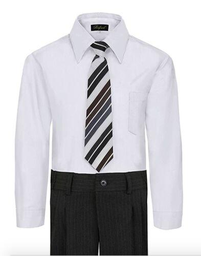 BOY/'S Robe Chemise /& Cravate Set à manches longues-plusieurs couleurs disponibles