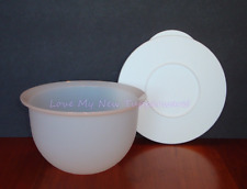Tupperware 5.5 Cup Impressions Bowl & Seal Set White Storage Container Rare New